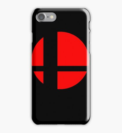 Super Smash Bros Logo - Black Background - Apple Cases iPhone Case/Skin