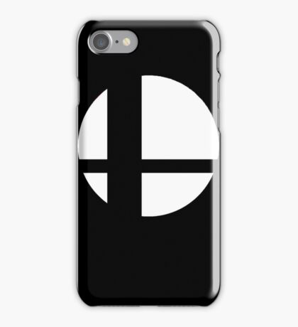 Super Smash Bros Logo - Black Background - Apple Cases iPhone Case/Skin