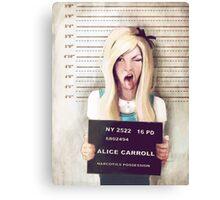 Alice mugshot Canvas Print