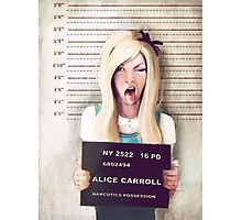 Alice mugshot Photographic Print
