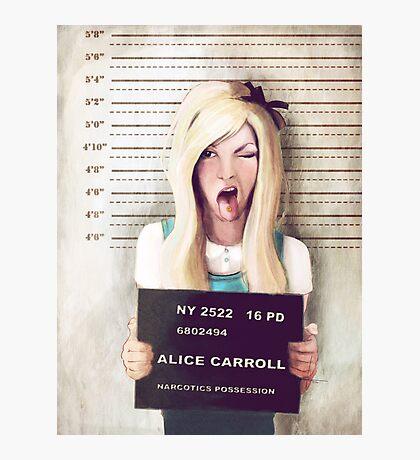 Alice mugshot Photographic Print