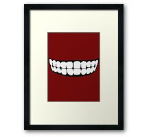 The Truth's Mouth - Two Colour Framed Print