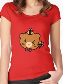 Bumble Bee bear Face Women's Fitted Scoop T-Shirt