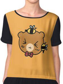 Bumble Bee bear Face Chiffon Top
