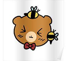 Bumble Bee bear Face Poster