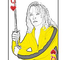 Queen Be Playing Card (Uma Thurman, Kill Bill) by JoelCortez
