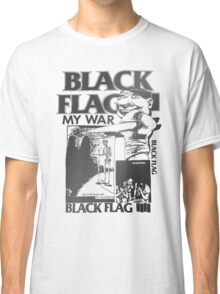 Retro Punk Restyling   - Black Flag silver Classic T-Shirt