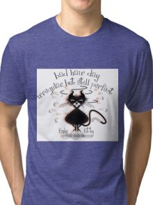 KINKY KITTY - Bad Hair Day Tri-blend T-Shirt