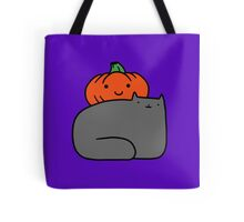 Cat and Pumpkin Tote Bag