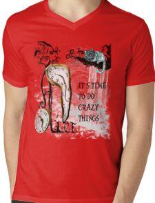Cat Chester Mens V-Neck T-Shirt