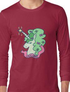 Green Haired Unicorn Long Sleeve T-Shirt