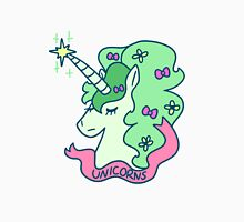 Green Haired Unicorn Womens Fitted T-Shirt