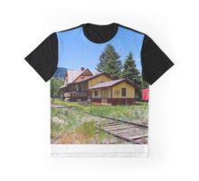 Wagon Wheel Gap Train Station Graphic T-Shirt