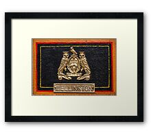 Wellington Name Badge Framed Print