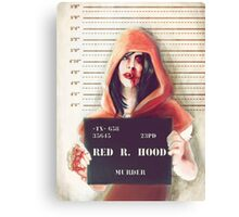 Red ridding hood mugshot Canvas Print
