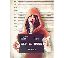 Red ridding hood mugshot Photographic Print