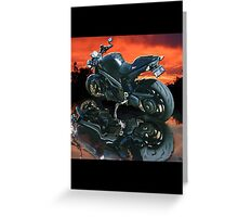 Motorcycle sunset Greeting Card