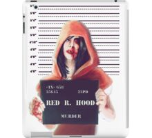 Red ridding hood mugshot iPad Case/Skin