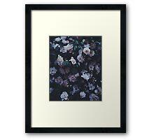 Dark Flowers Framed Print