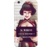 snow white mugshhot iPhone Case/Skin