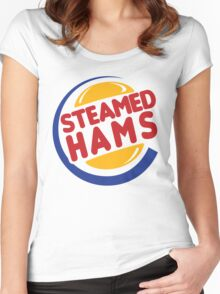 Steamed Hams Women's Fitted Scoop T-Shirt