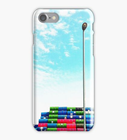 Thin Barrel Stack in Blue iPhone Case/Skin