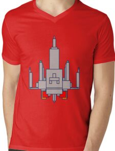 Space Invader Mens V-Neck T-Shirt