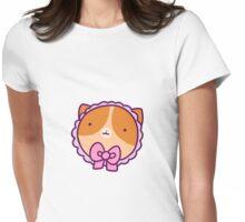 Bonnet Cat Face Womens Fitted T-Shirt