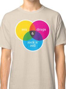 Sex, drugs and Rock n' Roll Venn Diagram Classic T-Shirt