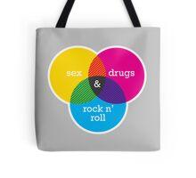 Sex, drugs and Rock n' Roll Venn Diagram Tote Bag