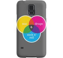Sex, drugs and Rock n' Roll Venn Diagram Samsung Galaxy Case/Skin