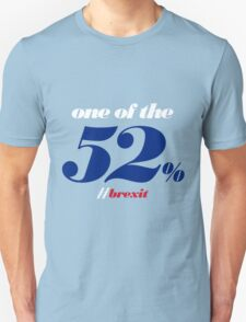 One of the 52% [Brexit Special] Unisex T-Shirt