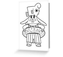 Come to Play Walrusbunny Original Cartoon Greeting Card