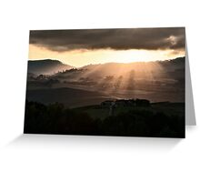 Sunset in Val 'Orcia Greeting Card