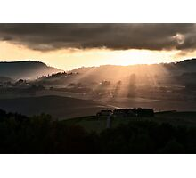 Sunset in Val 'Orcia Photographic Print