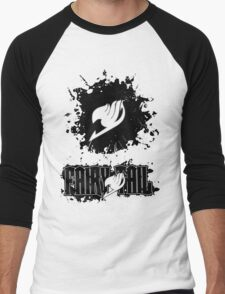 Fairy Tail Splash #2 Version (Black) Men's Baseball ¾ T-Shirt
