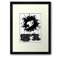 Fairy Tail Splash #2 Version (Black) Framed Print