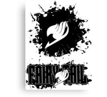 Fairy Tail Splash #2 Version (Black) Canvas Print