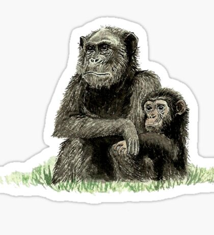 Apes Mother and Child Sticker