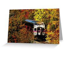 Commuter Rail to Boston Greeting Card