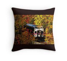 Commuter Rail to Boston Throw Pillow