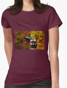 Commuter Rail to Boston Womens Fitted T-Shirt