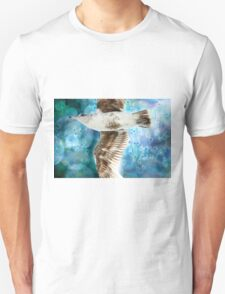 Gull with Watercolor Background Unisex T-Shirt