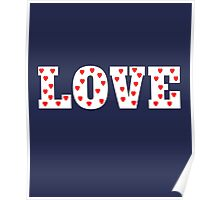 Love with Heart Pattern Poster