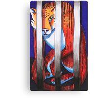 Caged Animal Canvas Print