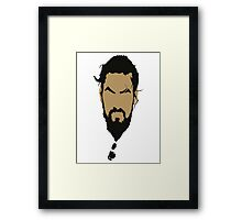 Game of Thrones - Khal Drogo Framed Print