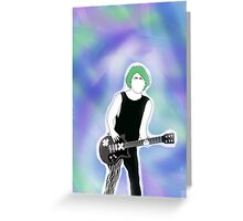 5SOS Michael Clifford Outline Drawing - Colored Background Greeting Card