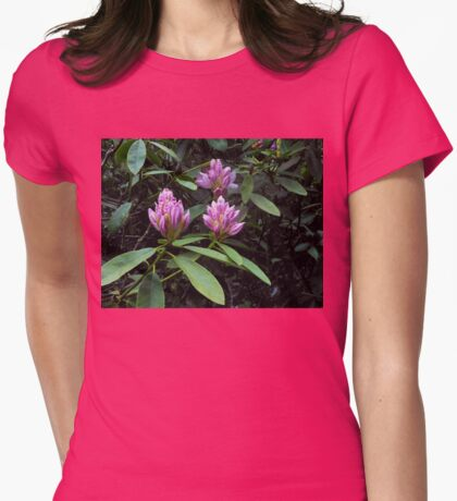 Opening Rhododendron Buds Womens Fitted T-Shirt