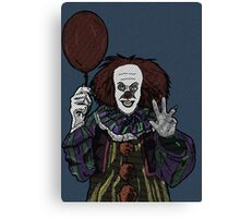 Pennywise the Clown, From Stephen King's IT Canvas Print