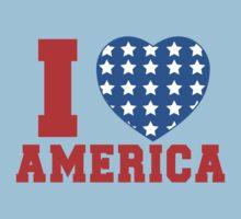 I Heart America Flag Kids Clothes